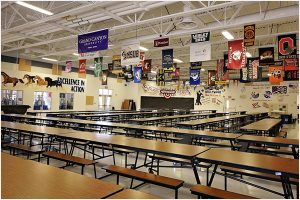 Cafeteria at Mannion Middle School