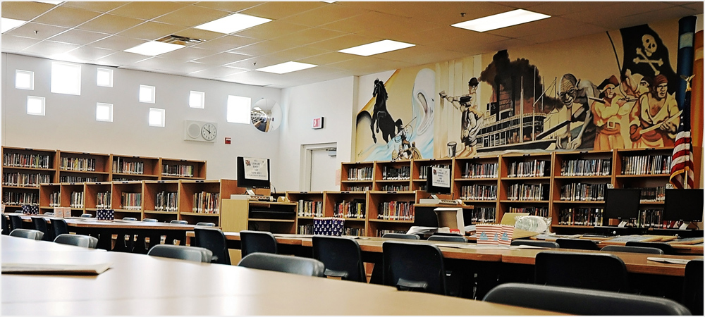 Library at Mannion Middle School