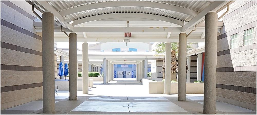 Hallway at Mannion Middle School